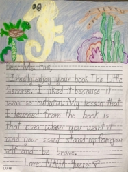 The Little Seahorse Fan Mail for Author Sheri Fink