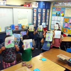 Classroom enjoying The Whimsical World of Sheri Fink books