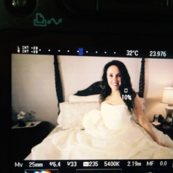 Sheri Fink at the Cake in Bed photo shoot