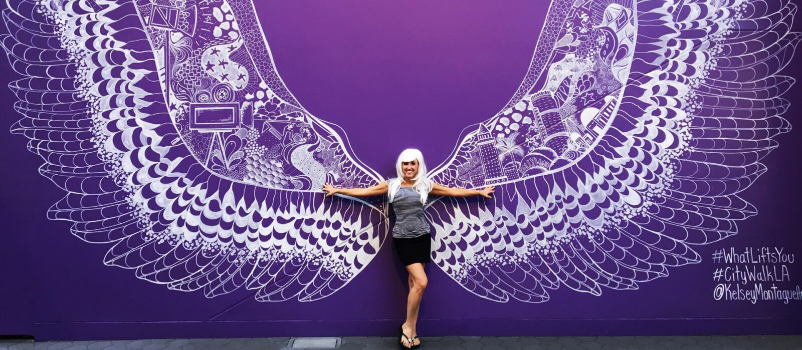 Children's Author Sheri Fink with Whimsical Angel Wings